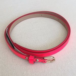 Ann Taylor neon pink/orange skinny belt